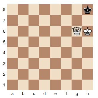 Un exemple de pat aux échecs