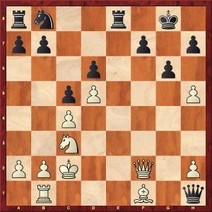 Position finale de la 8e partie du match Anand- Gelfand 2012