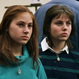 Judit Polgar (à gauche) et sa soeur Sofia lors des Olympiades de Thessalonique